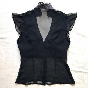 bebe Tops - BeBe shear black blouse